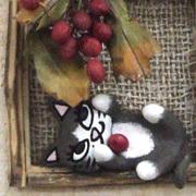 猫の壁飾り