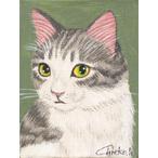 猫の極小絵画 「ミニキャンパス」